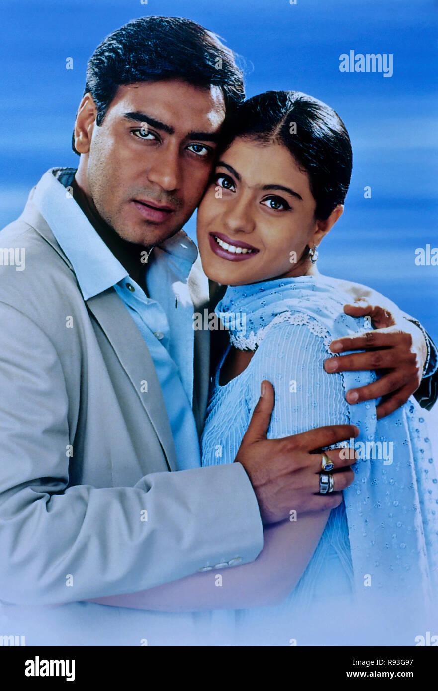 Bild Von Kajol Und Ajay Devgan Filmplakate Indien Stockfoto Bild