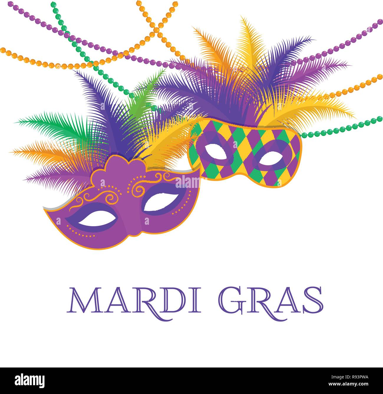 Mardi Gras Fat Tuesday Karneval Vorlage Vektor Abbildung Bild