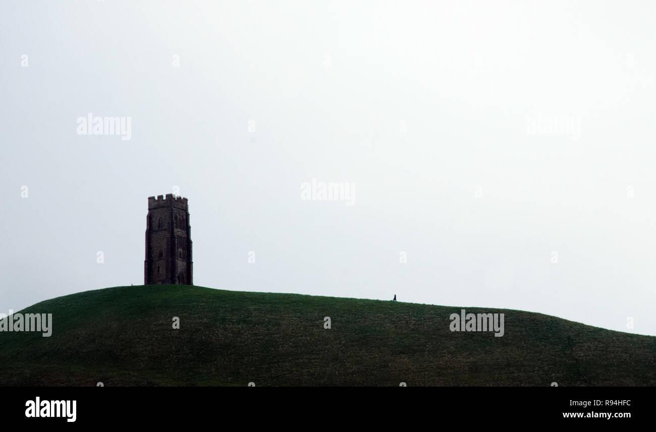 Stadt Glastonbury, Somerset, Großbritannien Stockbild