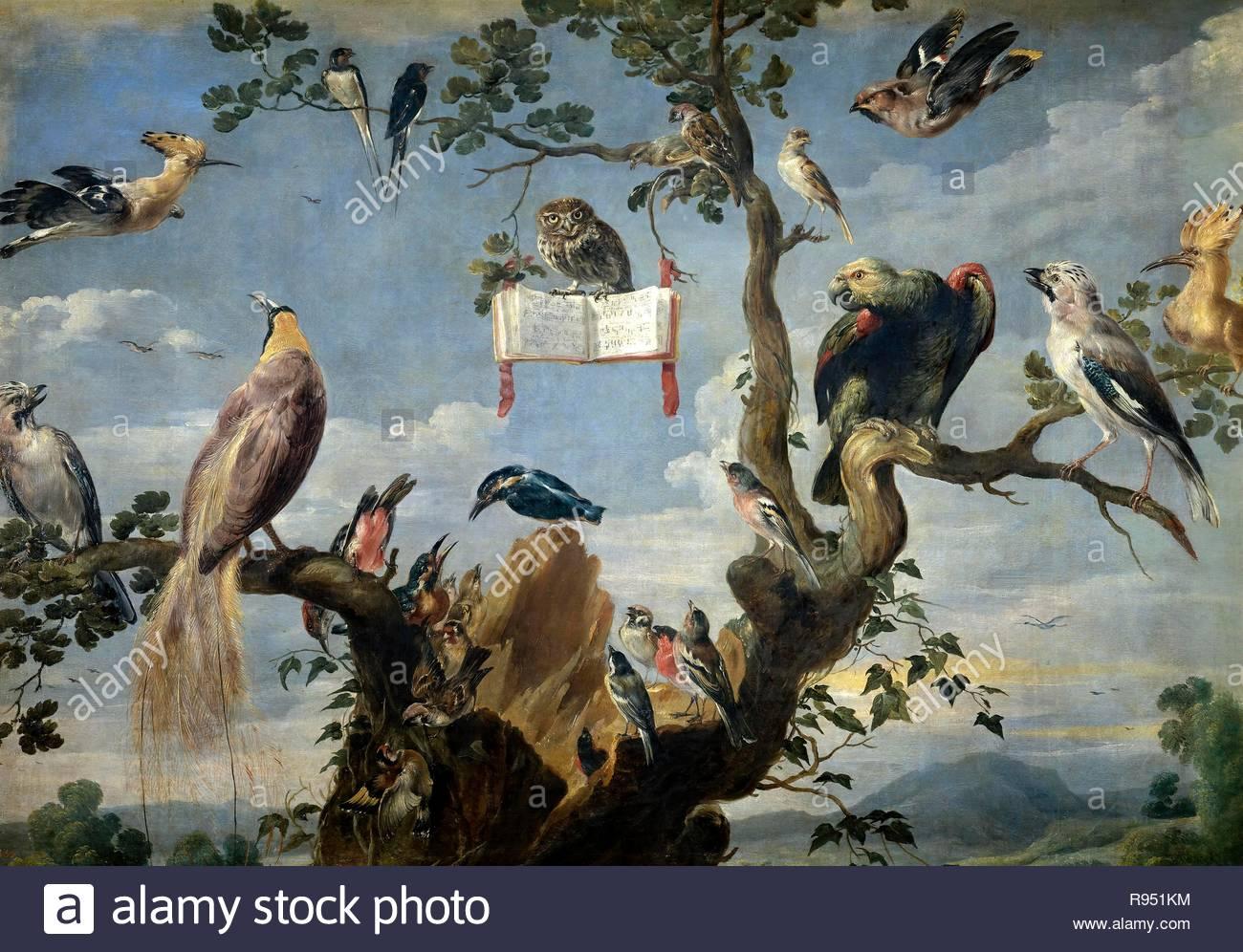 Frans Snyders/' Konzert der Vögel', 1629-1630, flämischen Schule, Öl auf Leinwand, 98 cm x 137 cm, P 01758. Museum: Museo del Prado. Stockbild