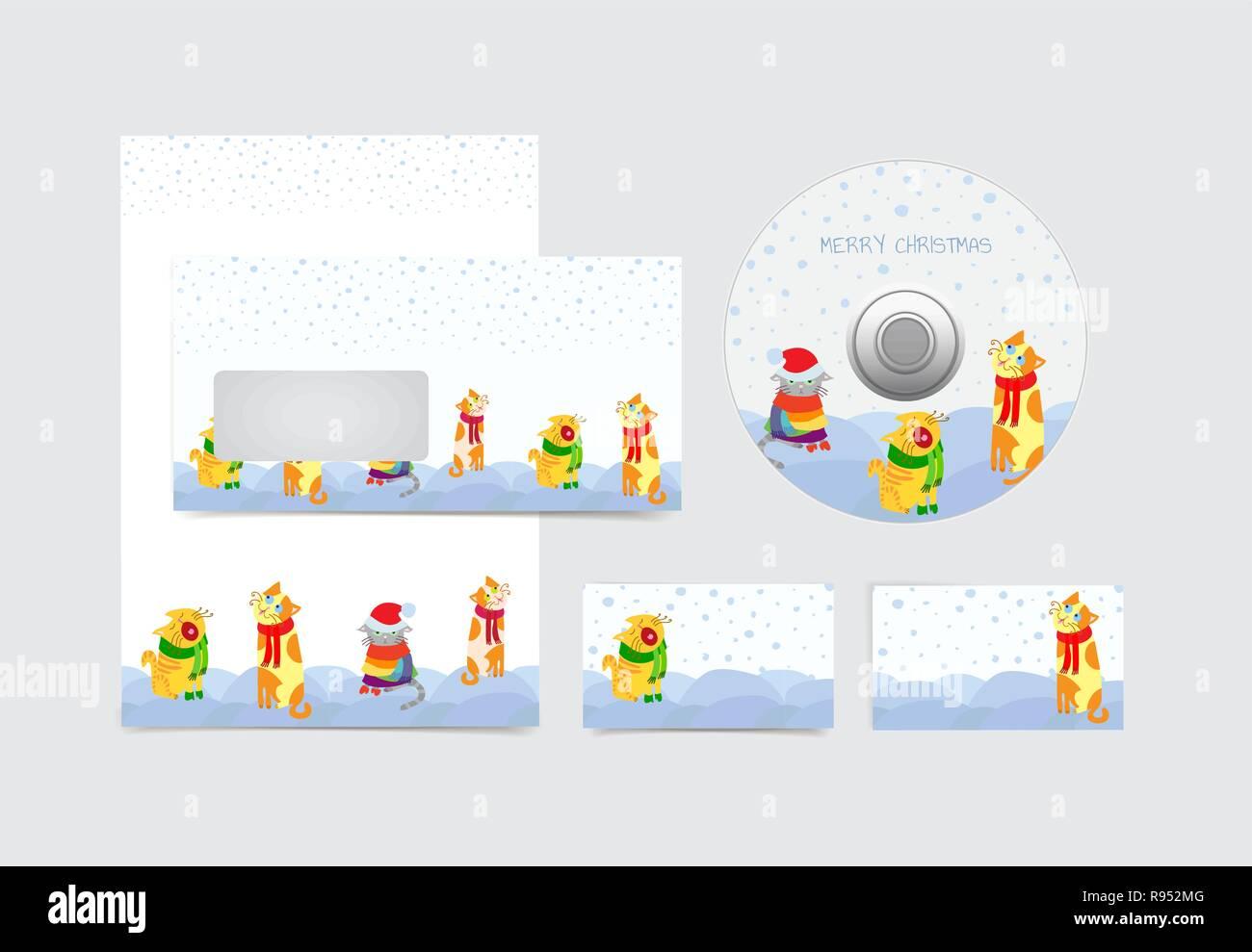 Frohe Weihnachten Cd.Winterurlaub Leer Briefpapier Visitenkarten Blatt Umschlag