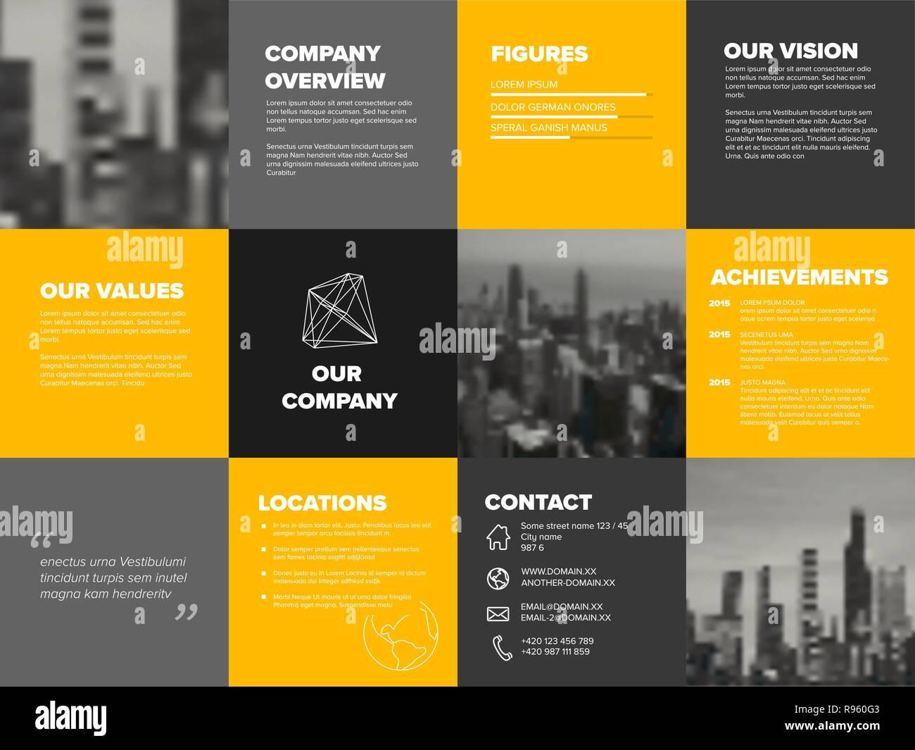 Firmenprofil Broschuren Vorlage Premium Vektor 15