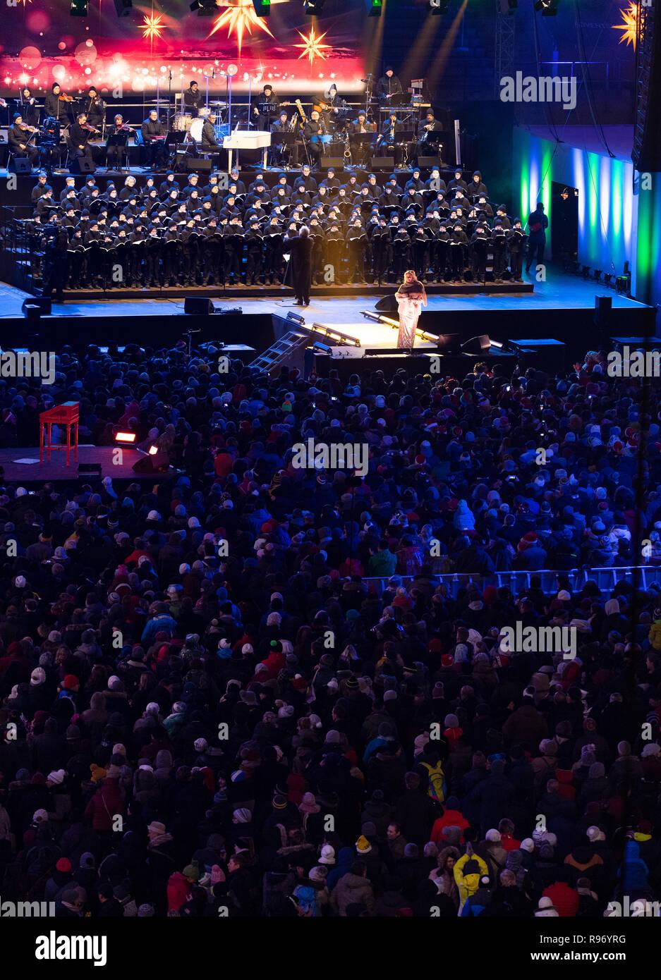 Dresden Deutschland 20 Dez 2018 Zahlreiche Zuschauer An Den