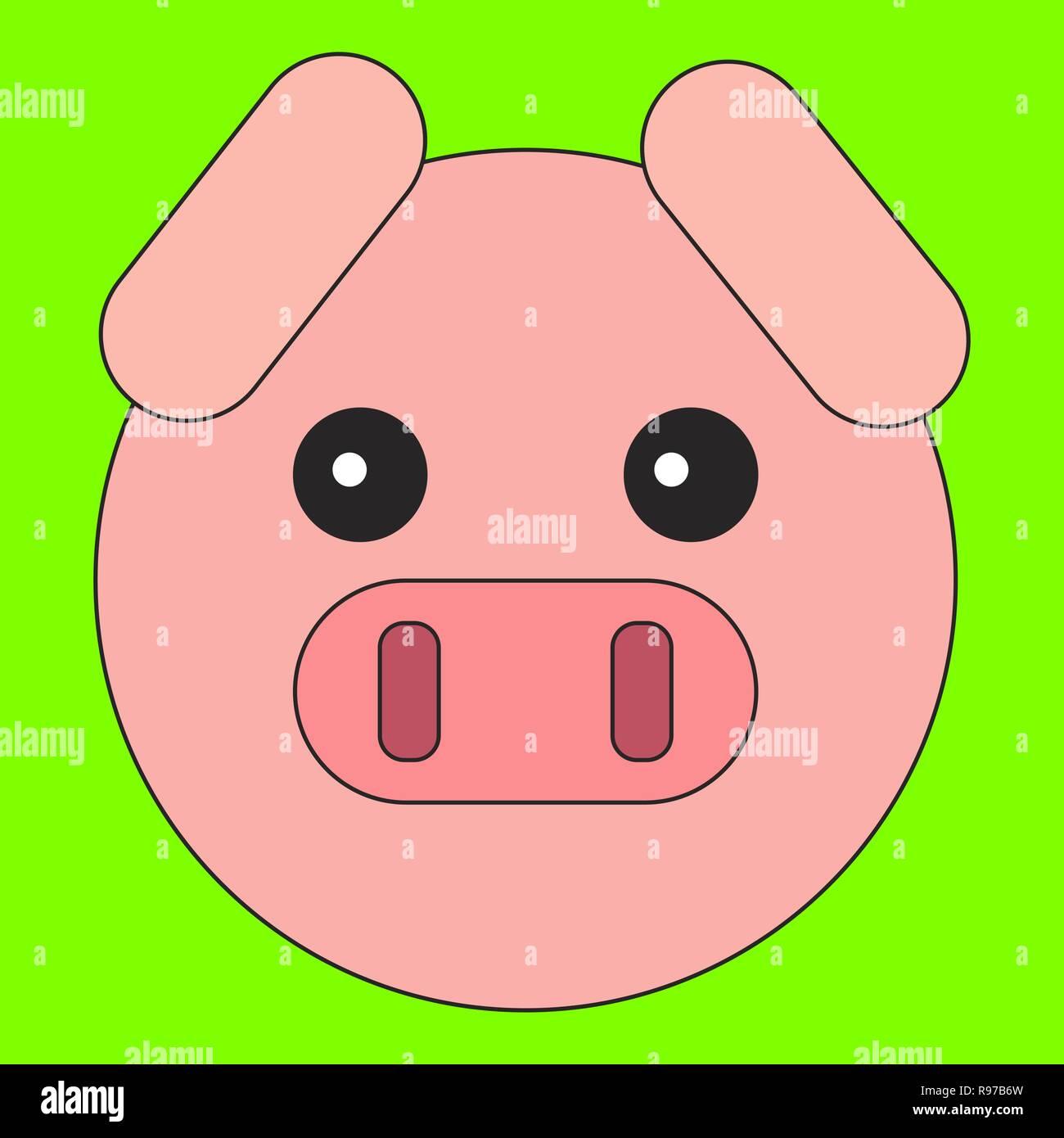 Pink Pig Cartoon Stockfotos Pink Pig Cartoon Bilder Alamy