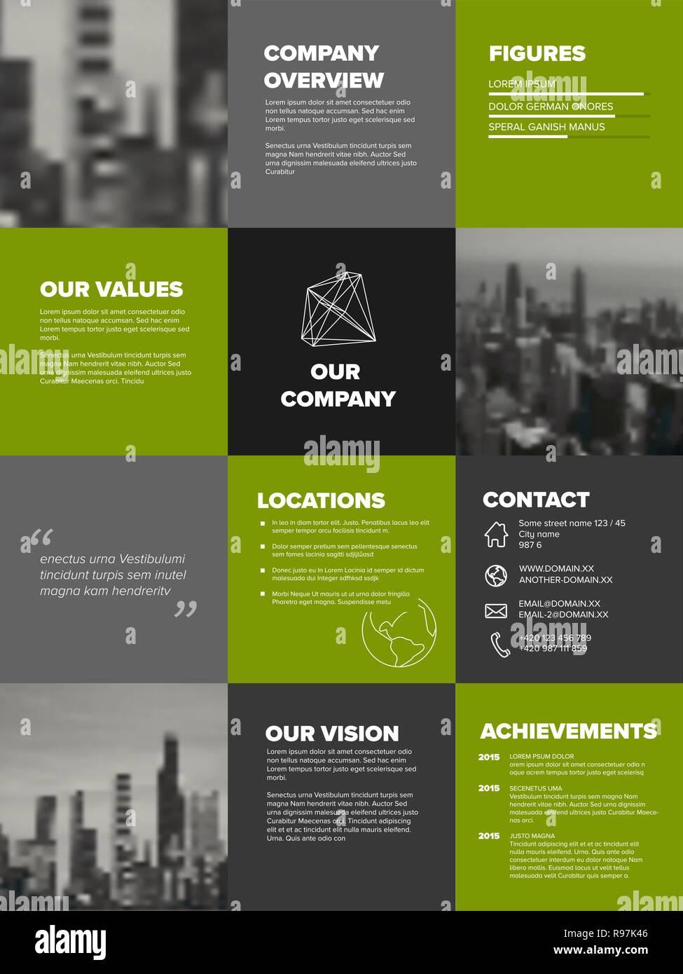 Firmenprofil Vorlage Corporation Main Informationen 14