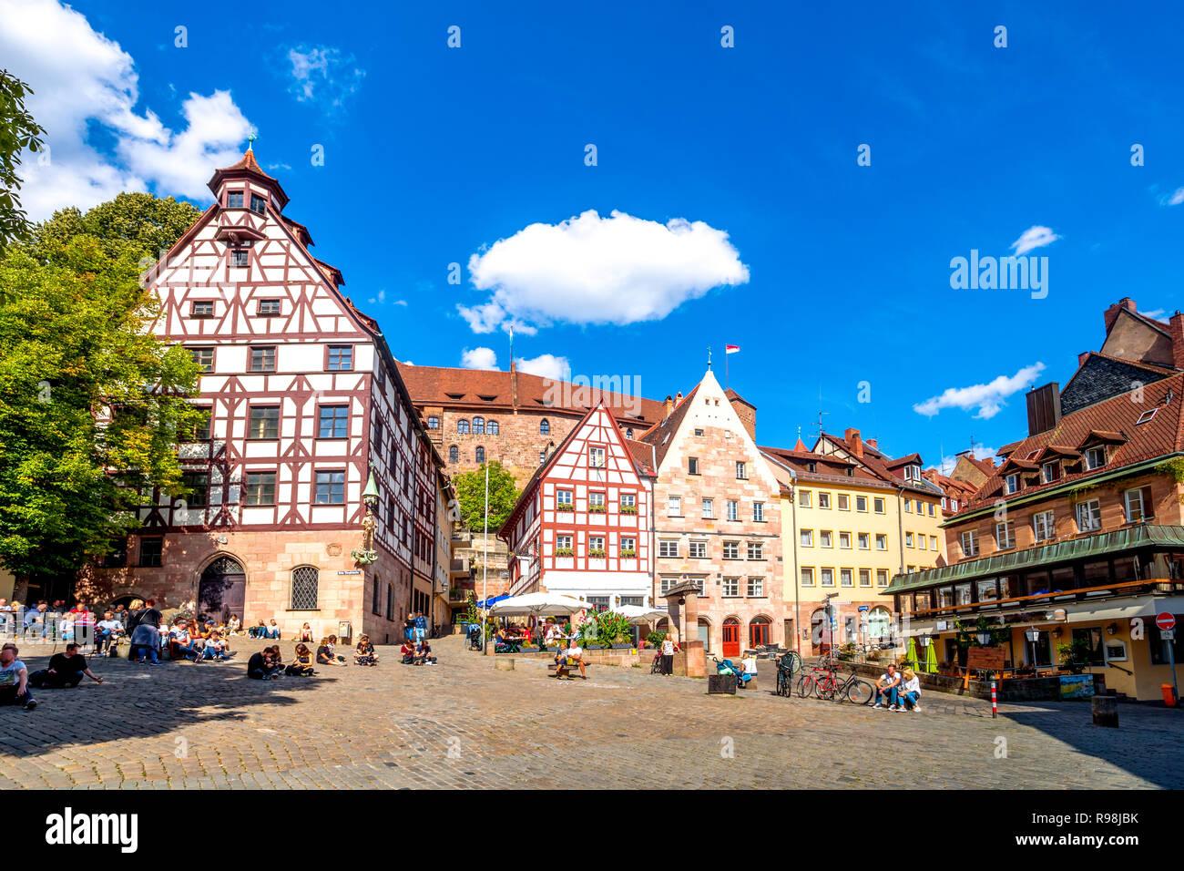 Nürnberg, Kaiserburg Dürer Haus, Deutschland Stockbild