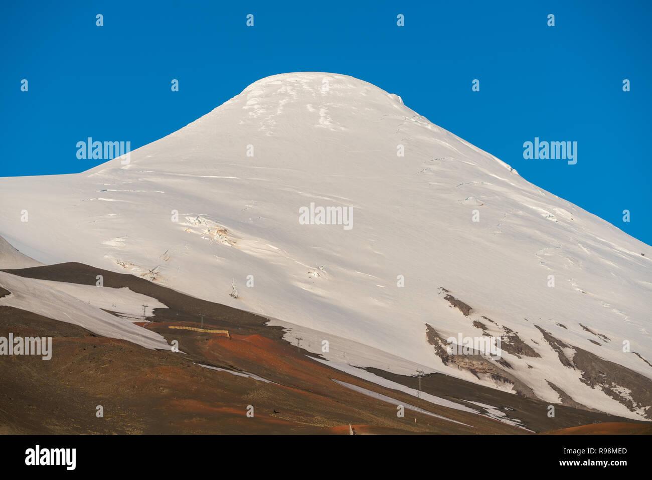 In der Nähe der Oberseite der Vulkan Osorno im Vicente Perez Rosales National Park Stockbild