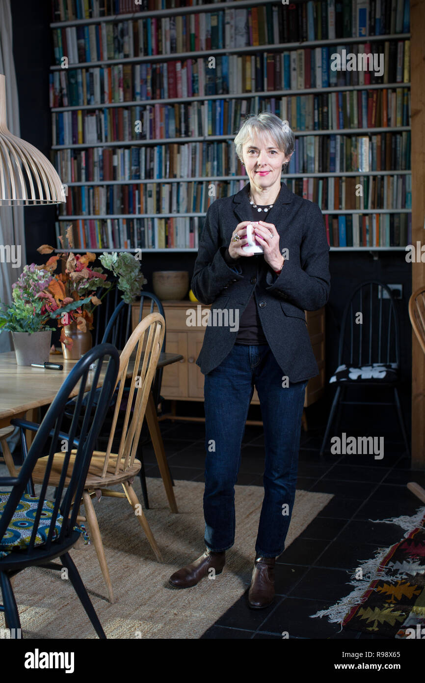 Lucy Kellaway, Management Kolumnist bei der Financial Times, referendarin in einer Hauptschule, Gründer der erzieherischen Liebe 'lehren' Stockbild