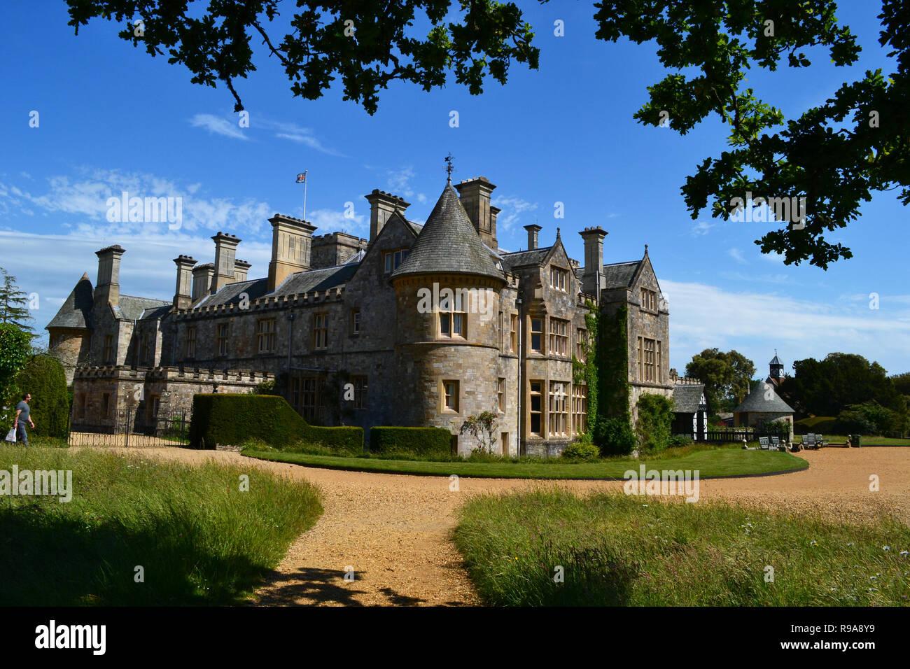 Von Lord Montagu Palace House in Beaulieu National Motor Museum und Gärten, New Forest, Hampshire, Großbritannien Stockbild