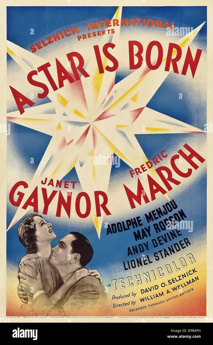 Original Filmtitel: EIN STAR IST GEBOREN. Englischer Titel: ein Stern ist geboren. Jahr: 1937. Regisseur: William A. WELLMAN. Quelle: UNITED ARTISTS/Album Stockfoto