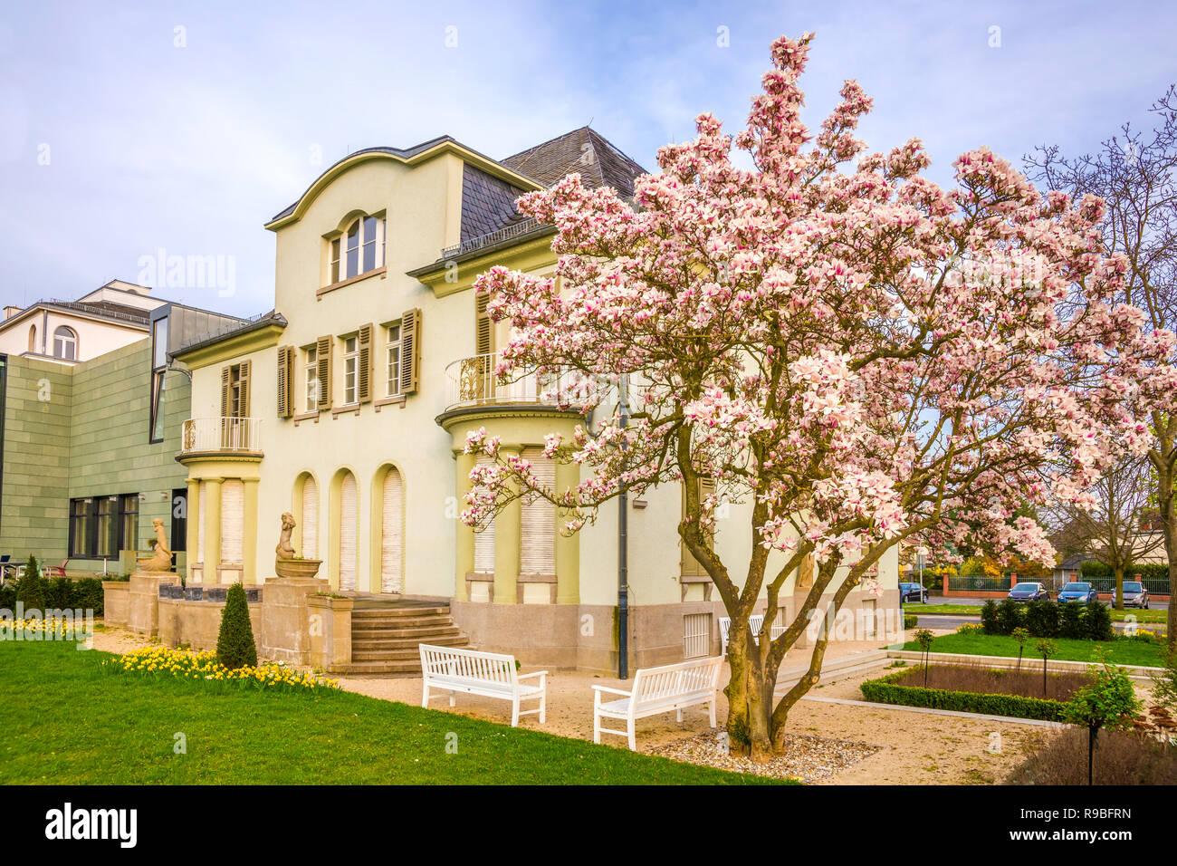 Rüsselsheim, Festung und Villen, Deutschland Stockfoto, Bild ...