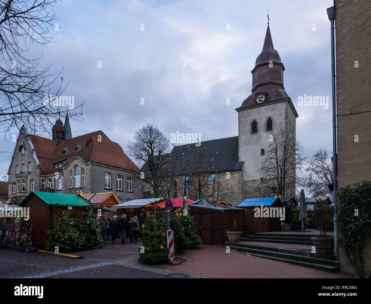 Melle Weihnachtsmarkt.Melle Osnabruck Land Niedersachsen Deutschland Dezember