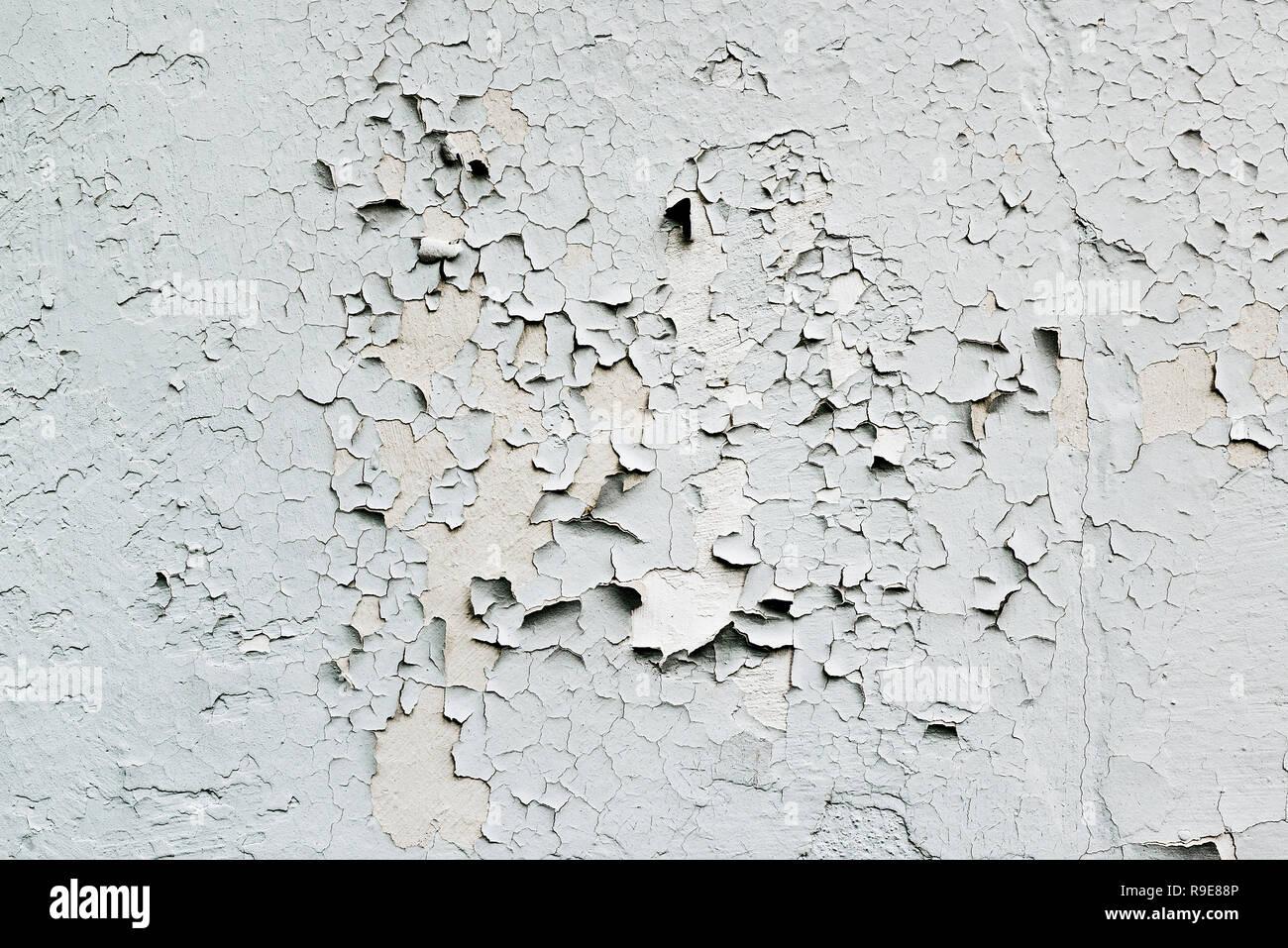 Abgeplatzte Farbe blätterte Detail. Stockbild