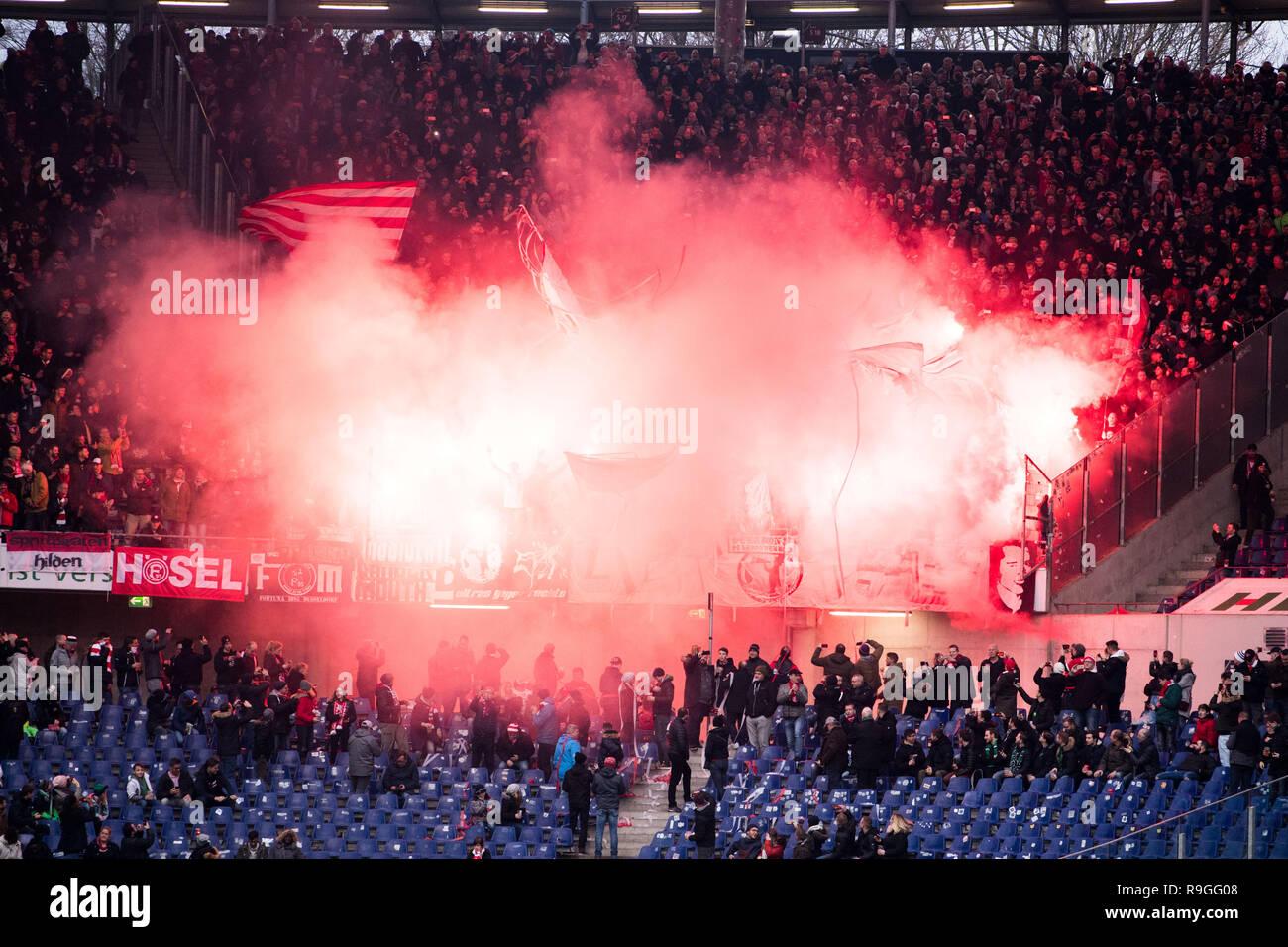 Hannover Deutschland 22 Dez 2018 Dusseldorf Fans Ende