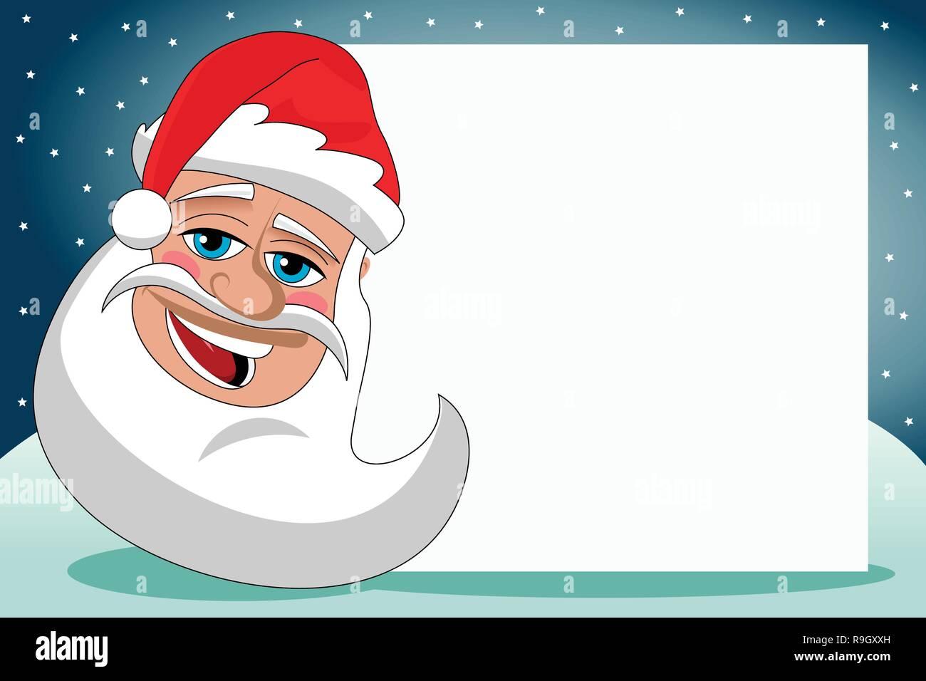 Santa Claus eine leere Karte Weihnachten oder Weihnachten Hintergrund Stockbild