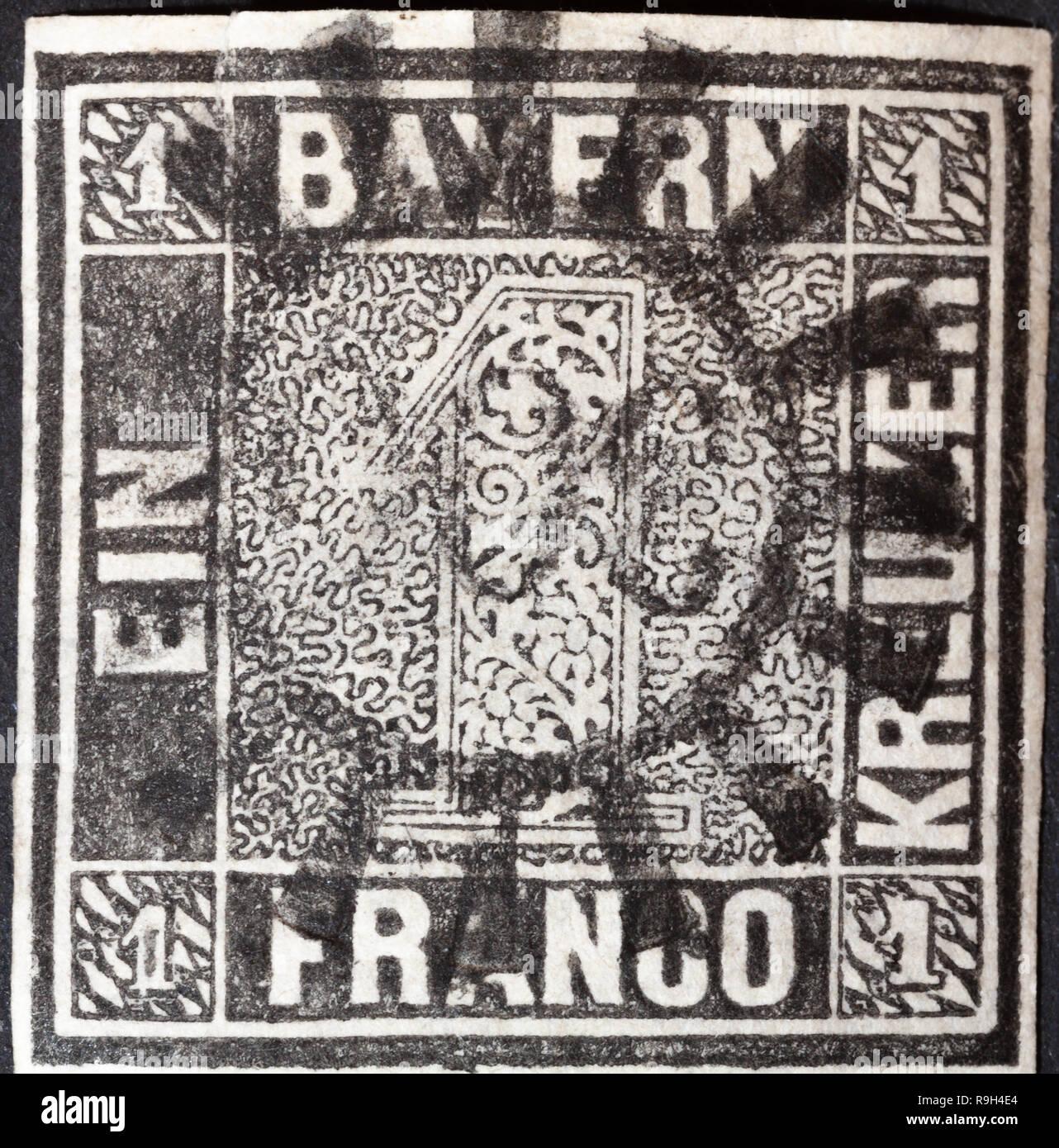 1849 Erste Deutsche Briefmarke Bayern Erste Briefmarke Bayern