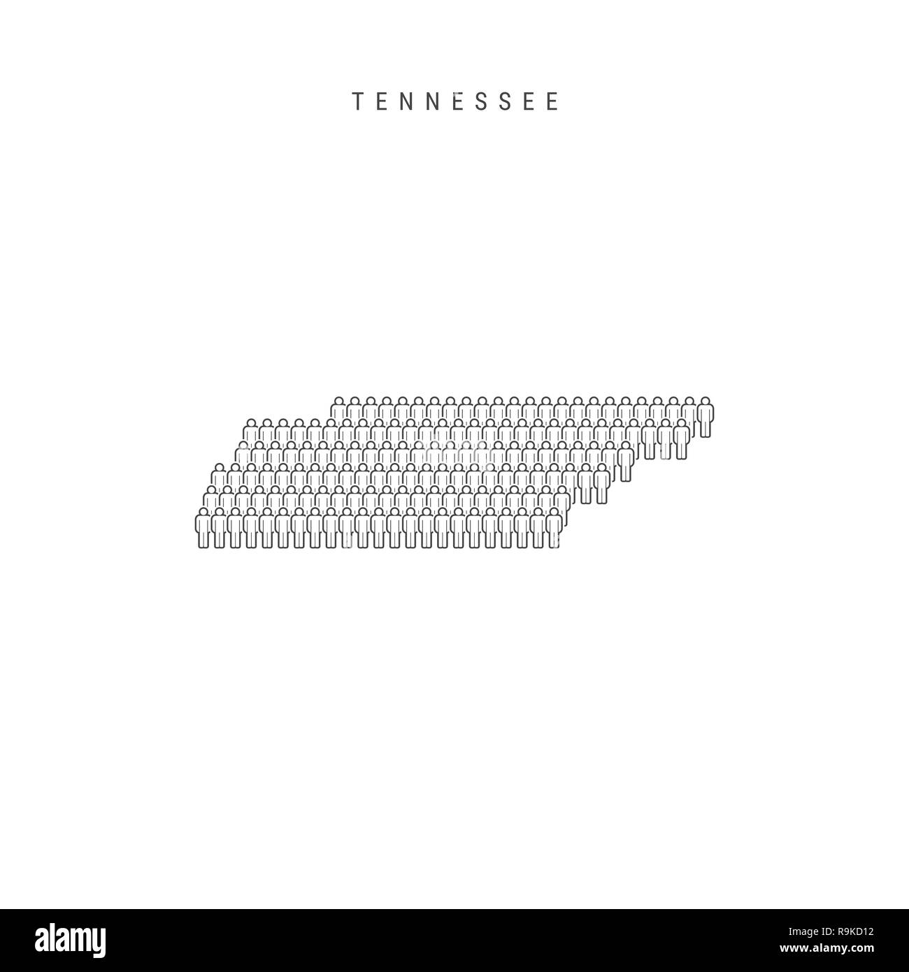 Tennessee State Map Stockfotos & Tennessee State Map Bilder - Alamy