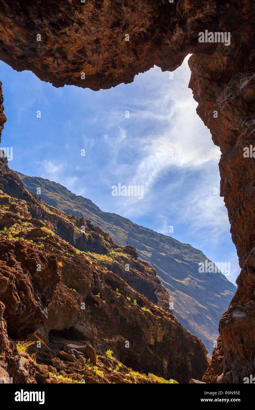 Berühmte Schlucht Masca auf Teneriffa, Kanarische Inseln, Spanien Stockbild