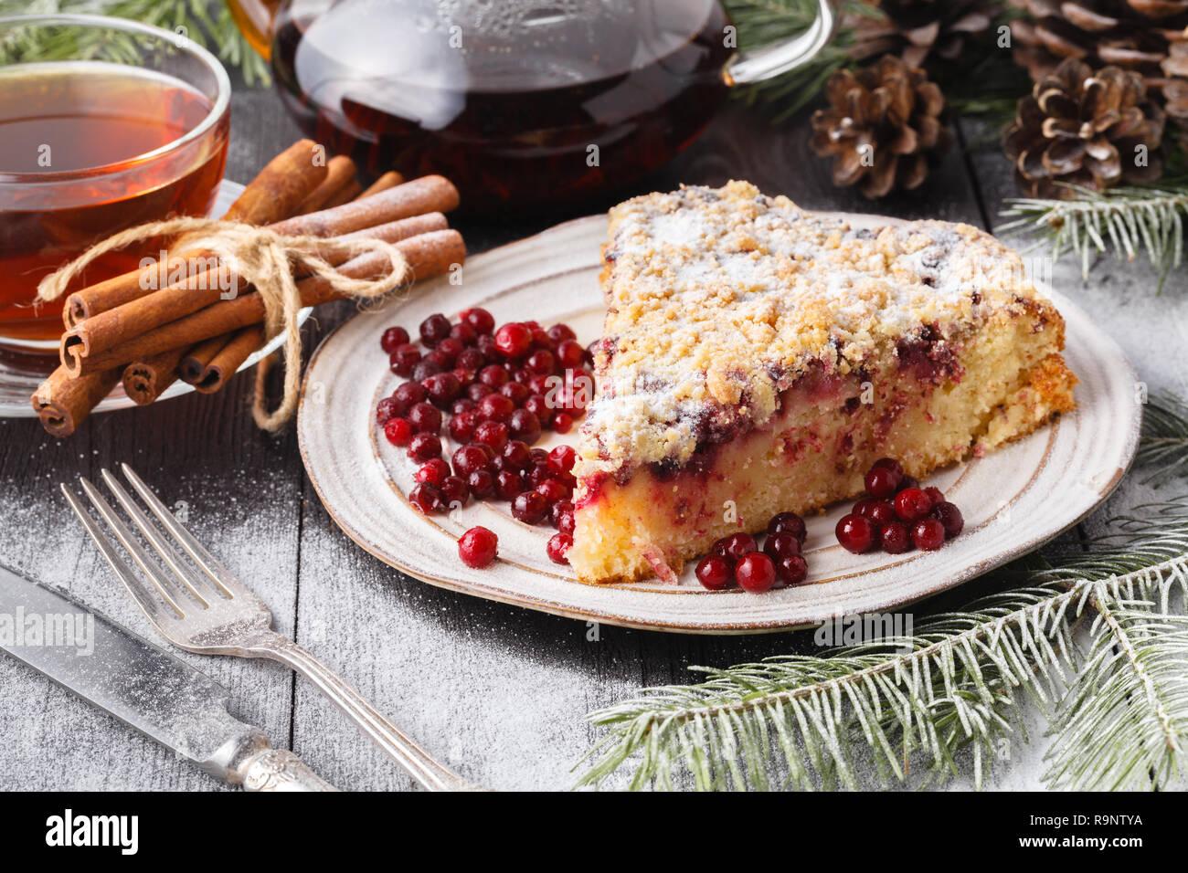 Weihnachten Obst Kuchen Pudding Auf Weisse Platte