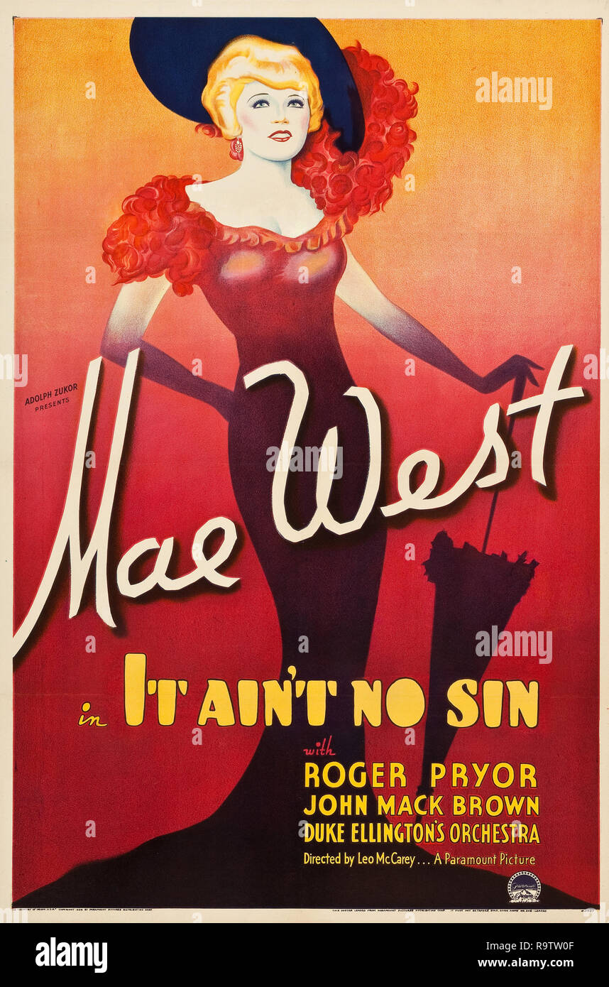 Die Schönheit der 90er Jahre (aka It Ain't No Sin) (Paramount, 1934). Plakat Mae West Datei Referenz # 33635_922 THA Stockbild