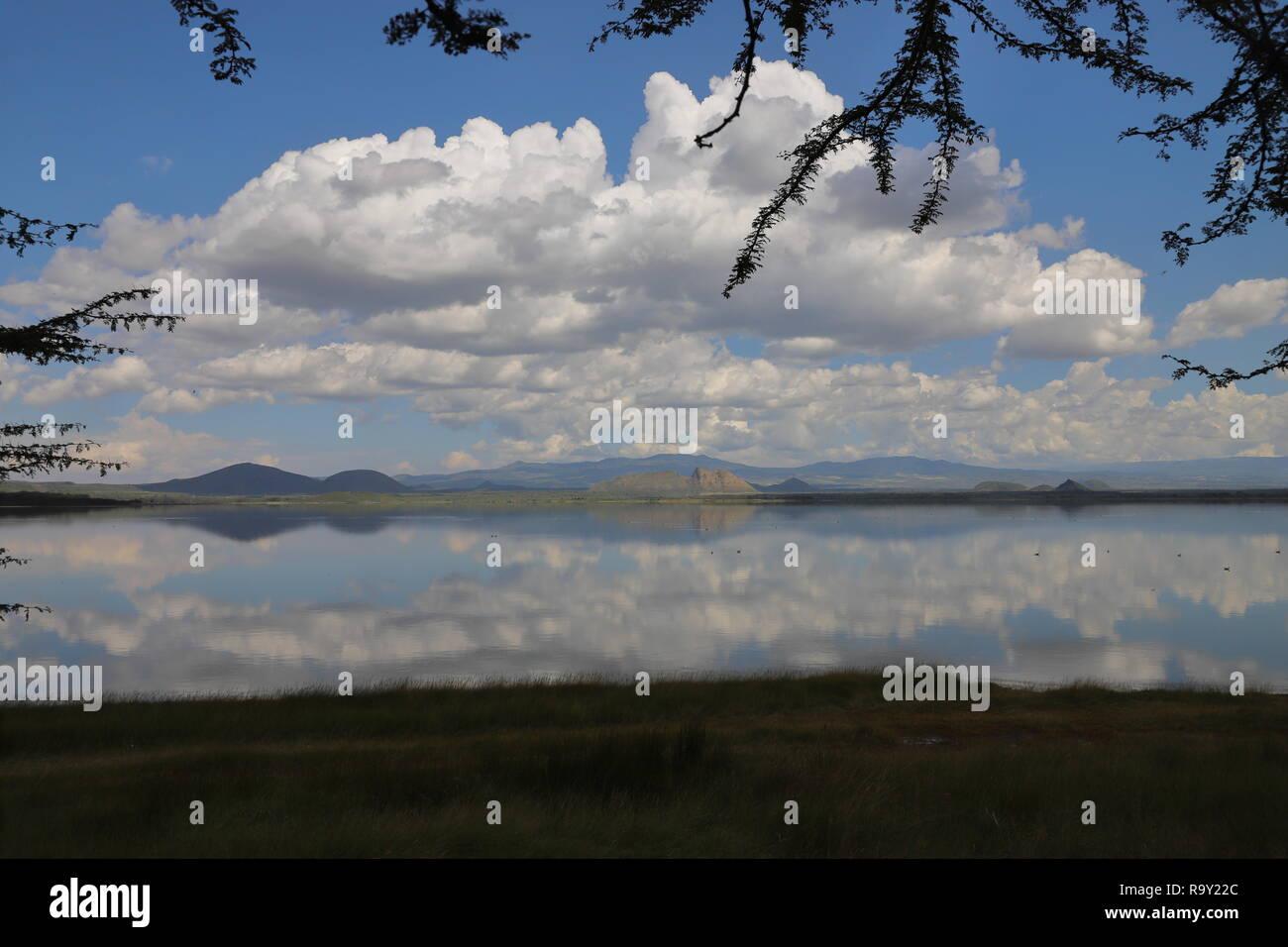 Lake Elmenteita in der Great Rift Valley in Kenia Stockfoto