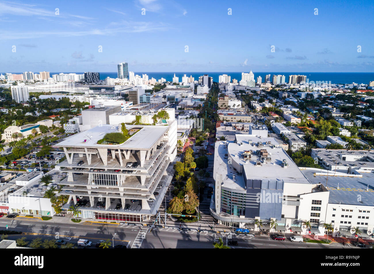 Miami Beach Florida Alton Road Fussgangerzone Lincoln Road Mall