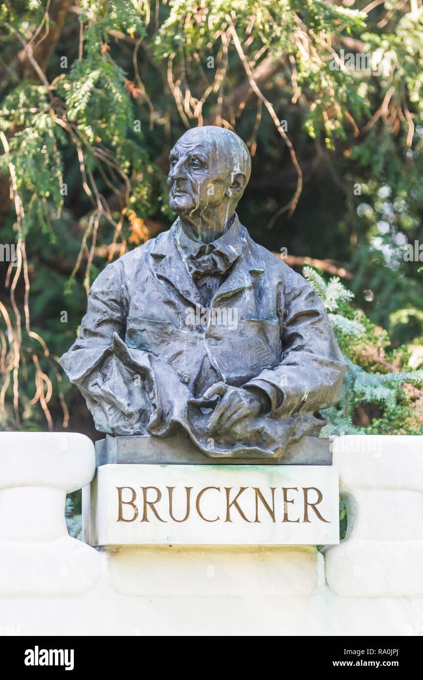 Anton-Bruckner-Denkmal Stockbild
