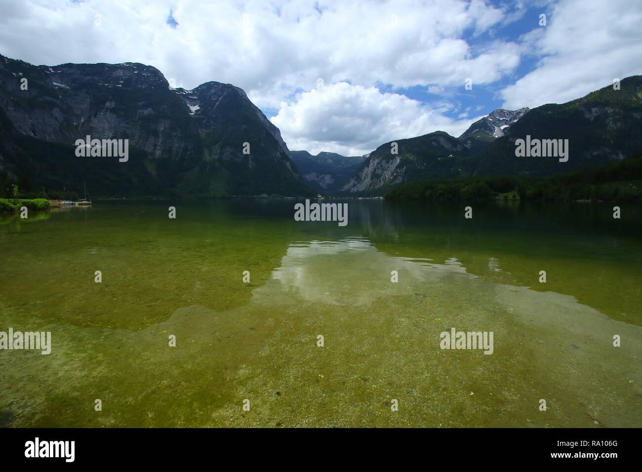 Salzkammergut in Österreich Geschichte und Natur in perfekter Kombination Stockbild