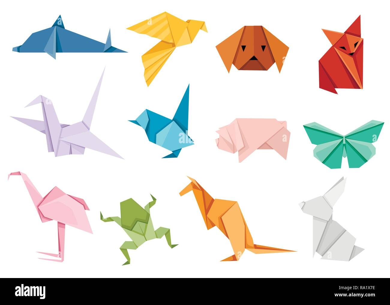 Origami Free Vector Art - (24,935 Free Downloads) | 1018x1300