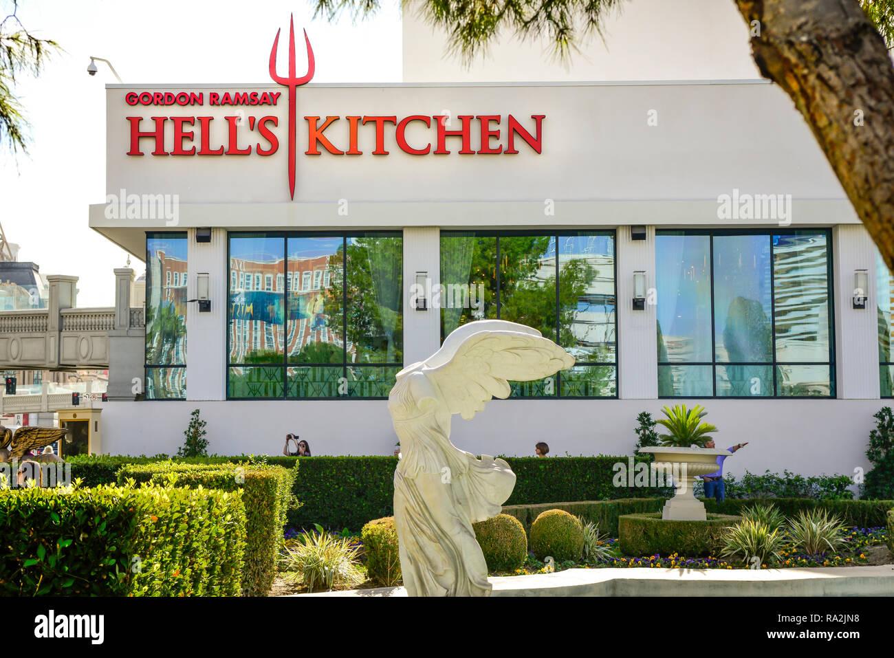 Hell S Kitchen Restaurant Von Gordon Ramsay In Las Vegas Nevada Stockfotografie Alamy