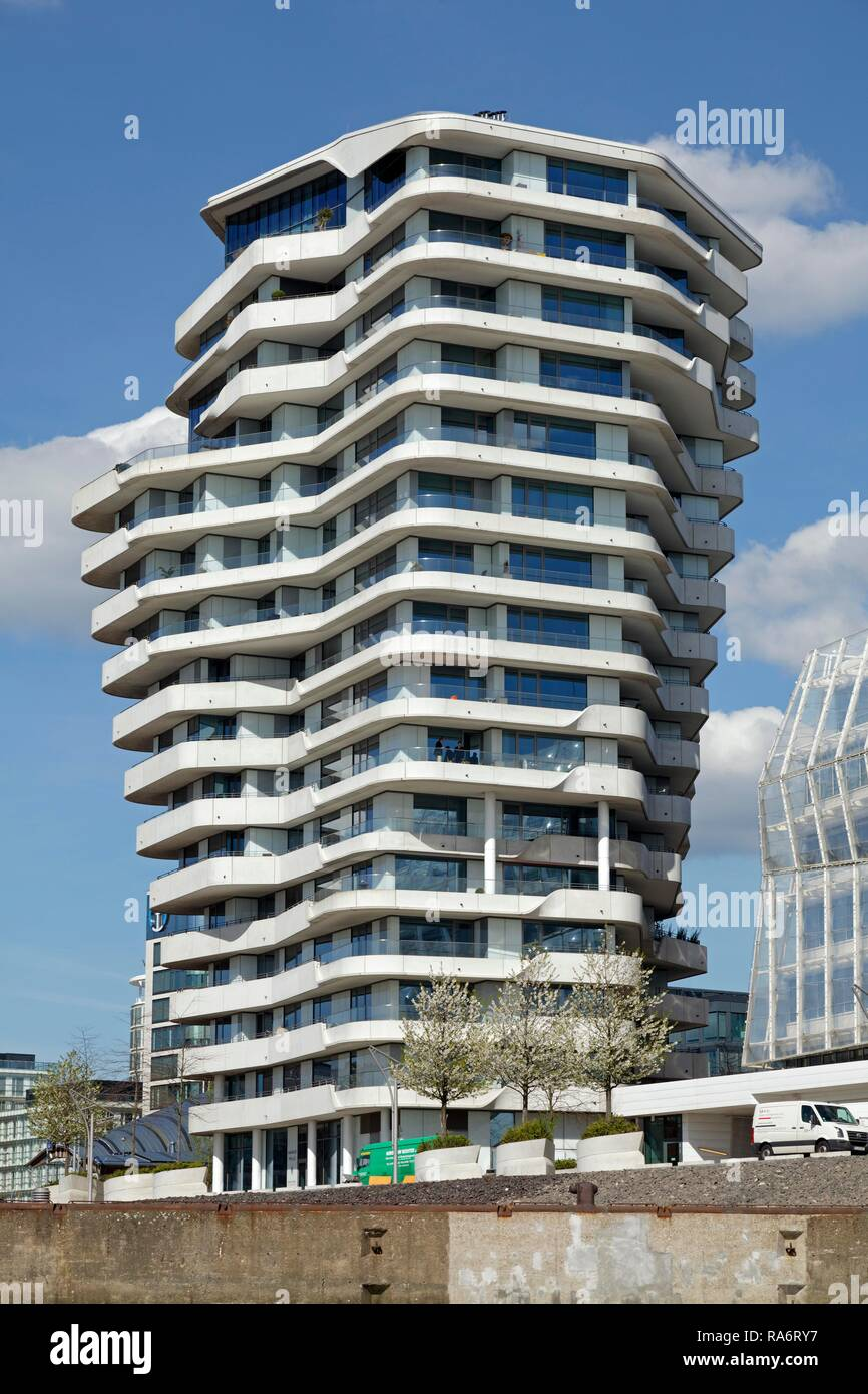Marco Polo Tower, HafenCity, Hamburg, Deutschland Stockfoto, Bild ...