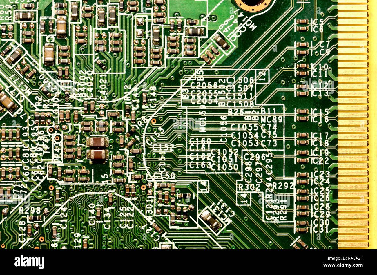 Computer Graphics Card - Detail Stockbild