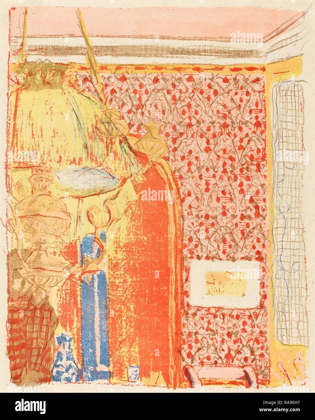 Edouard Vuillard (Französisch, 1868-1940), Innenraum mit rosa Tapete III (Interieur aux tentures Roses III), C. 1896 Neuerfundene Stockbild