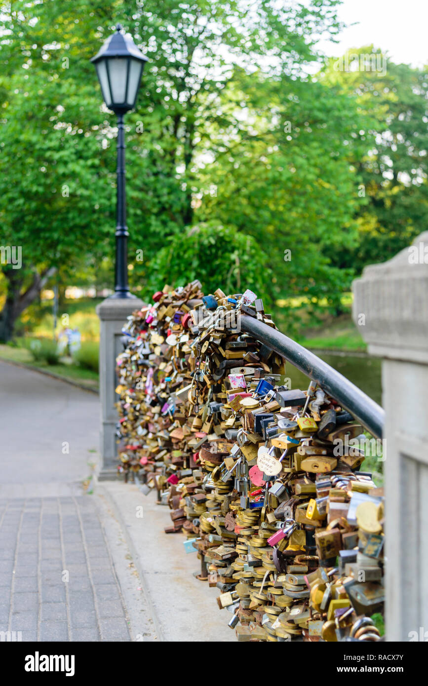 Liebhaber Schlosser An Brucke Bastejkalnna Parks Riga