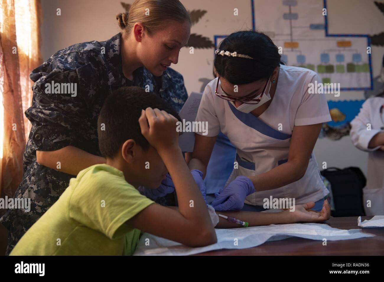 Blasenauftrag durch Krankenschwester