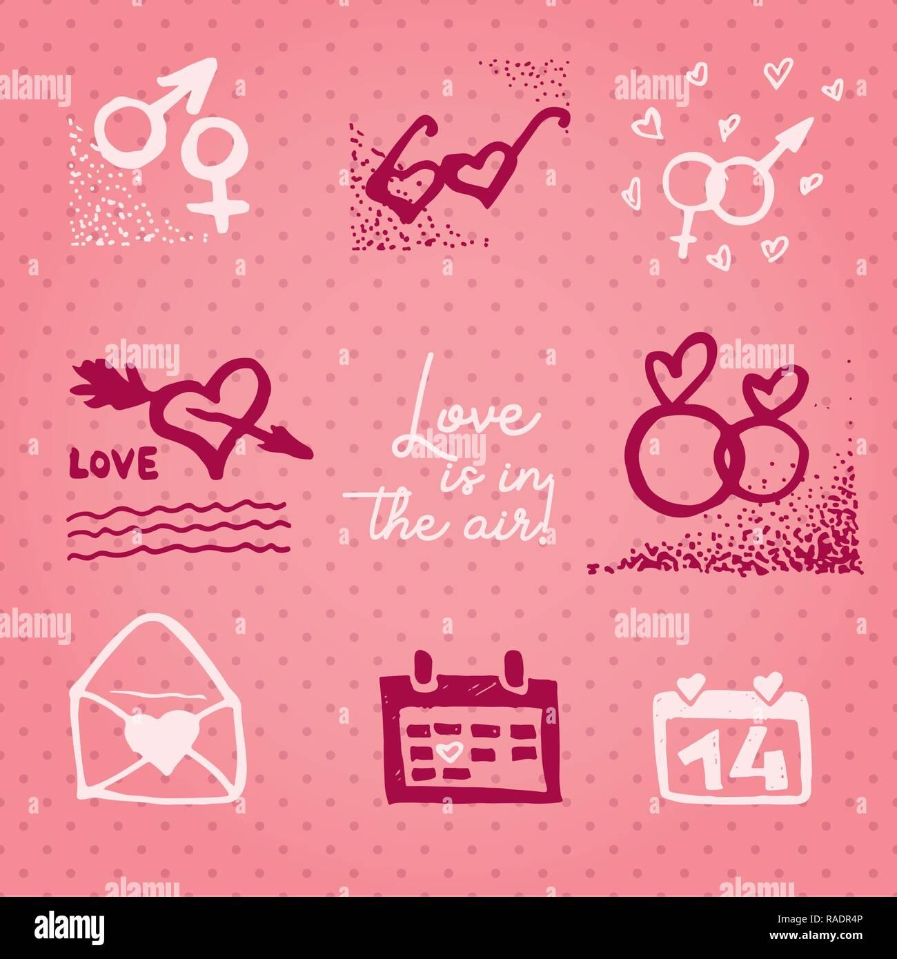 Valentines Tag Karte Oder Einladung Whit Motivation Text Liebe Ist