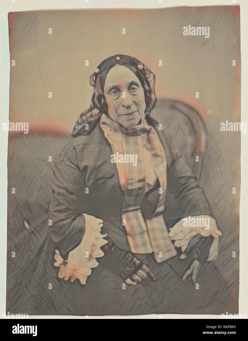 Marceline Desbordes-Valmore, Nadar, Gaspard Felix Tournachon (Französisch, 1820-1910), 1854, gesalzen Papier drucken, 19,6 x Neuerfundene Stockbild