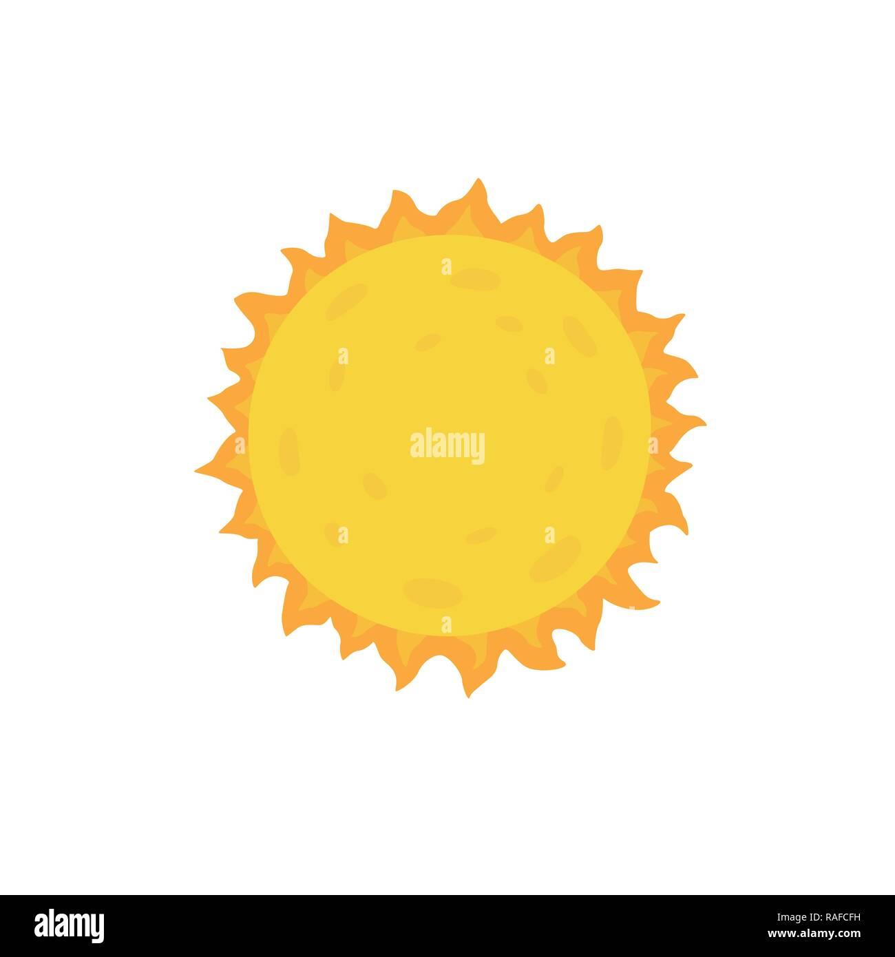 Sun Vektor Illustration auf weißem Hintergrund isoliert Stockbild