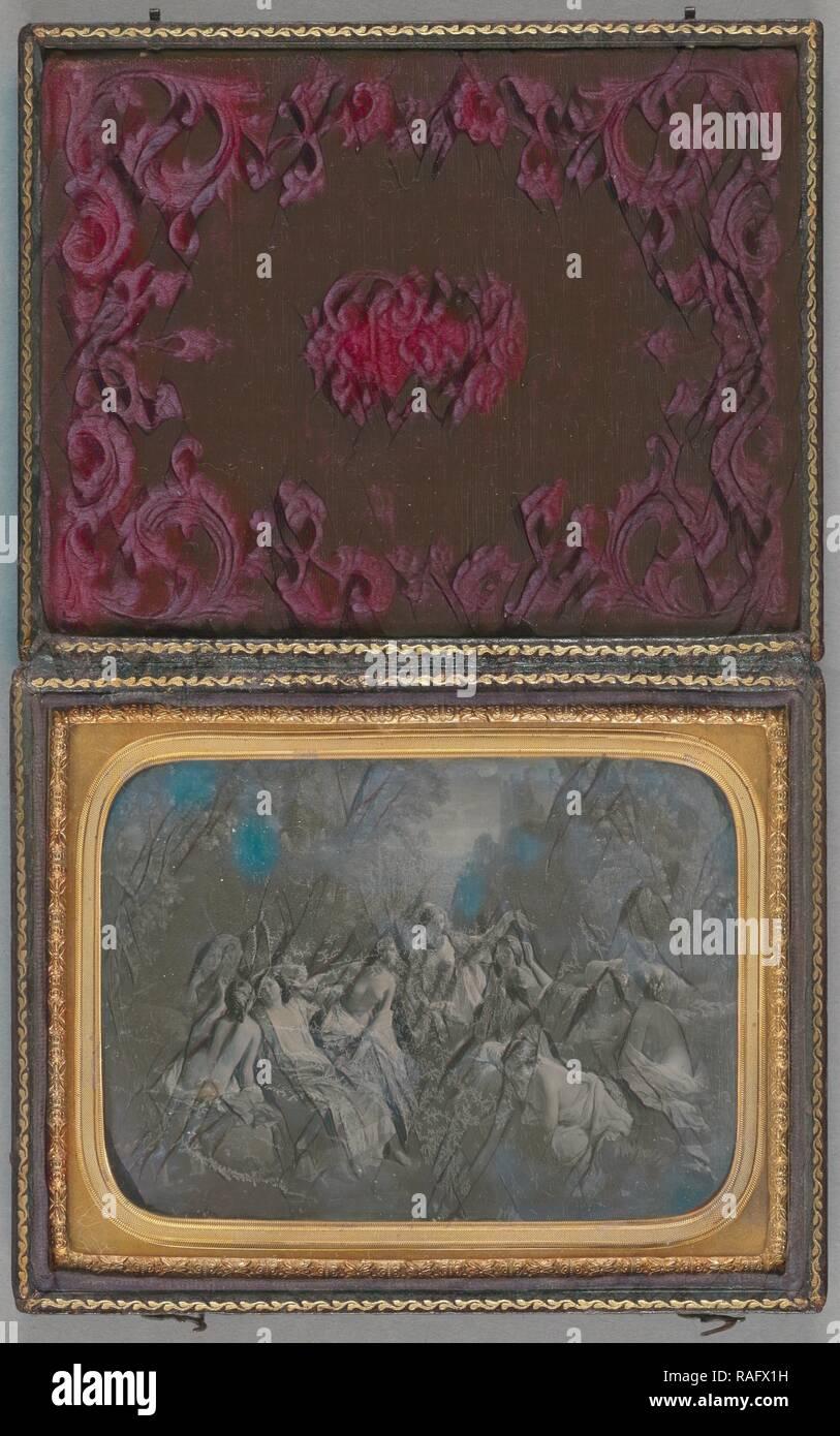 Schabkunst nach dem Zweiten Version von einem Gemälde mit dem Titel Florinde von Franz Xaver Winterhalter, Französisch, nach 1857 überarbeitet Stockbild