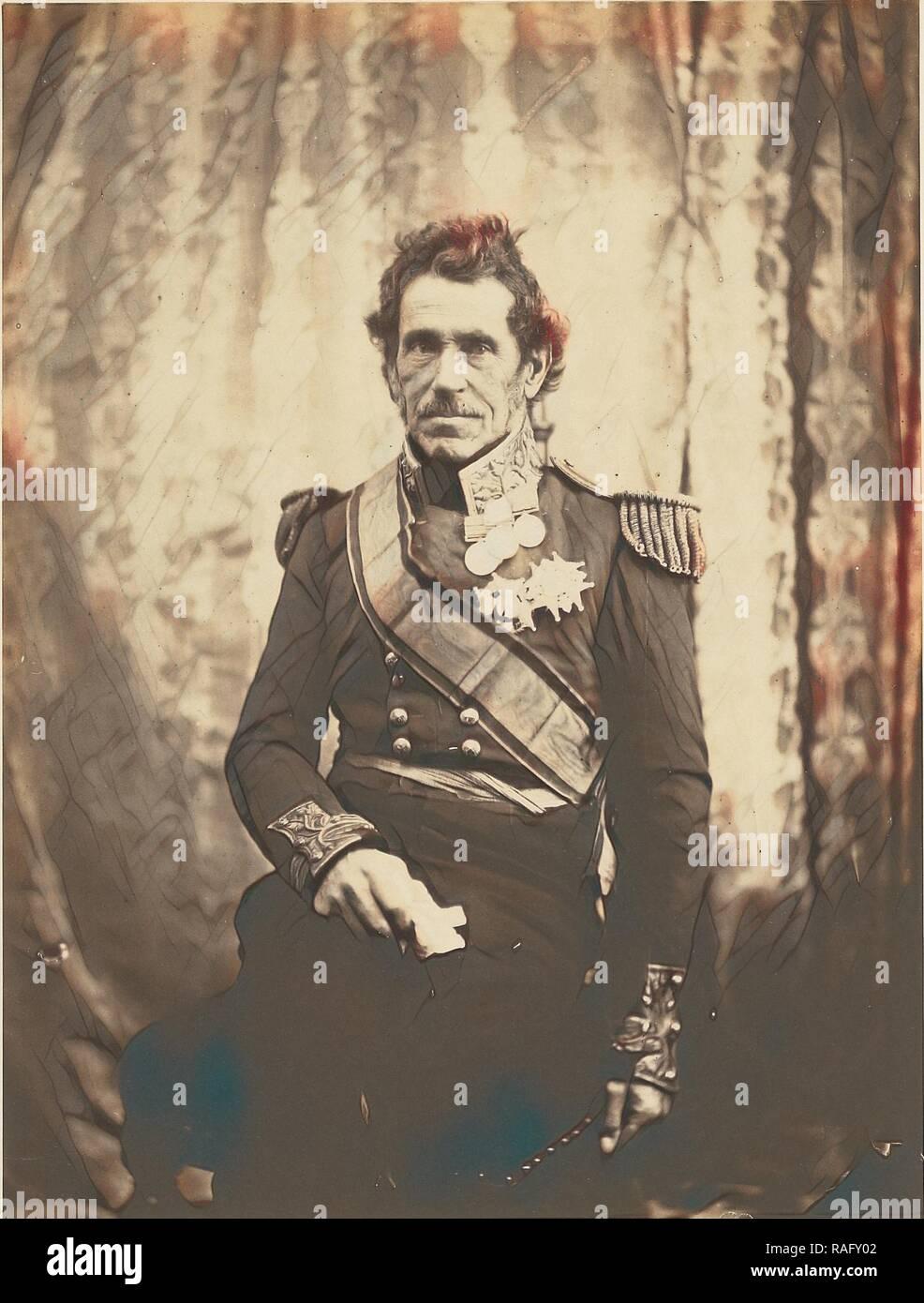 Generalleutnant Sir De Lacy Evans, G. C. B, Roger Fenton (Englisch, 1819-1869), 1855, gesalzen Papier drucken, 19,1 x 14,4 cm (Neuerfundene Stockbild