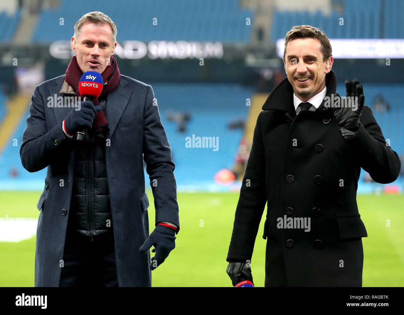 Jamie Carragher Und Gary Neville Wie Sky Sports Fussball