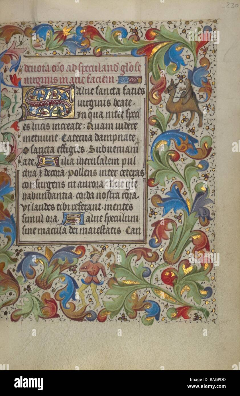 Erste S, Gent (wahrscheinlich), Belgien, 1450-1455, Tempera Farben, Blattgold, und Tusche auf Pergament dekoriert Neuerfundene Stockbild