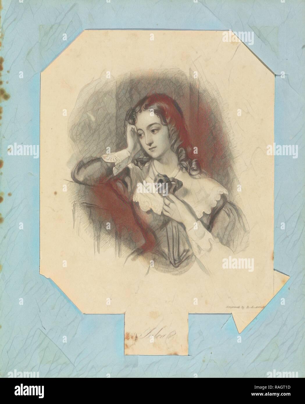 Julia, John William Wright (British, 1802-1848), Richard Austin Artlett, England, 1843 - 1845, Gravieren, 19,4 x 14 Neuerfundene Stockbild