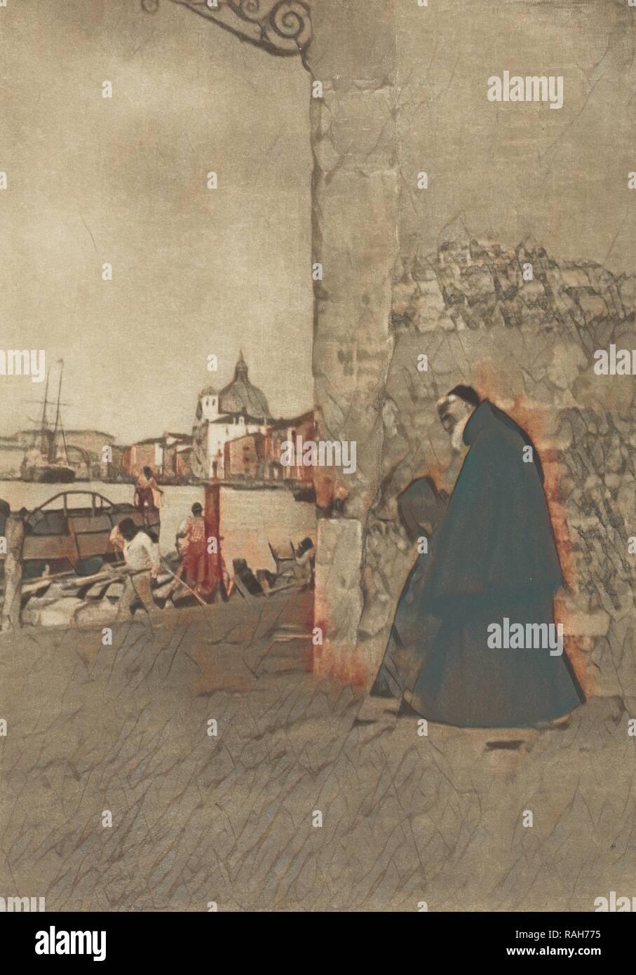 Ein Franziskaner, Venedig, James Craig Annan (Schottische, 1864-1946), Venedig, Italien, Oktober 1904, Photogravüre, 19,7 x 14 Neuerfundene Stockbild