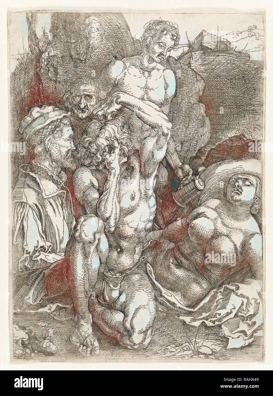 Abbildung fünf Studien, die Abbildung fünf Studien, Dürer, Albrecht, 1471-1528, Ca. 1515. Neuerfundene durch Gibon. Klassische Kunst mit Neuerfundene Stockbild