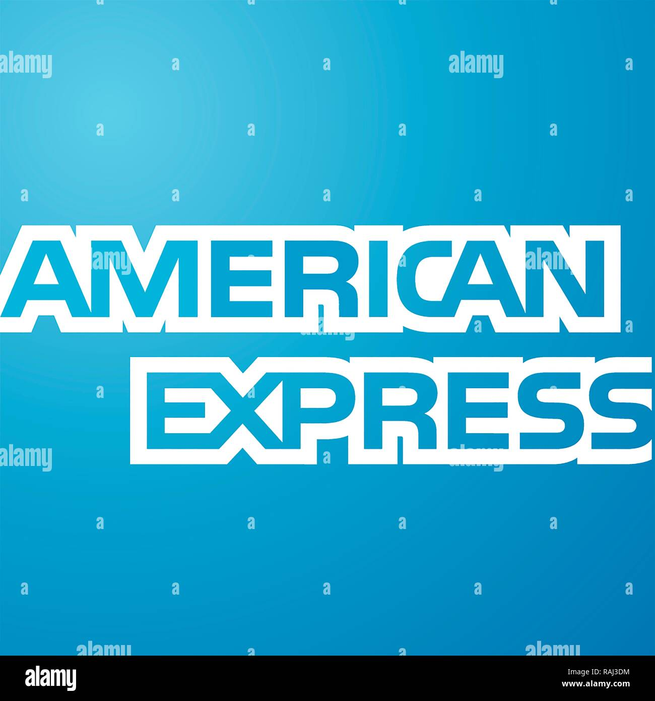 American Express, Logo, American Financial Services Provider, Deutschland Stockfoto