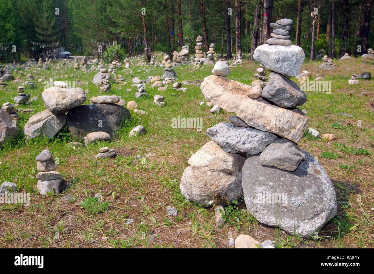Steine für die Erfüllung der Wünsche, Stein, Garten, Arschan ...