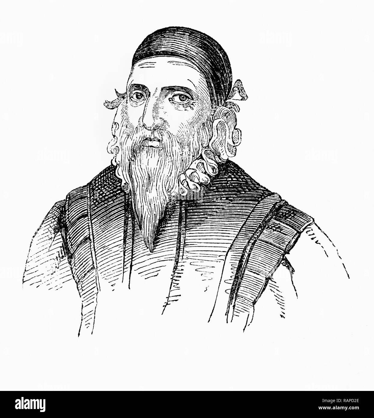 """John Dee (1527-1608/9) war ein englischer Mathematiker, Astronom, Astrologe, okkulte Philosoph und Berater für Königin Elizabeth I. Er viel von seinem Leben mit der Erforschung der Alchemie, Divination gewidmet, und der hermetischen Philosophie, Aktivitäten, scheint die Welt der Magie und moderne Wissenschaft zu spreizen. Ein leidenschaftlicher Förderer der Mathematik, er war auch ein führender Experte in der Navigation, viele von denen, die Englands Entdeckungsreisen führen würde. Er ist das Prägen der Bezeichnung """"British Empire"""" gutgeschrieben. Stockbild"""