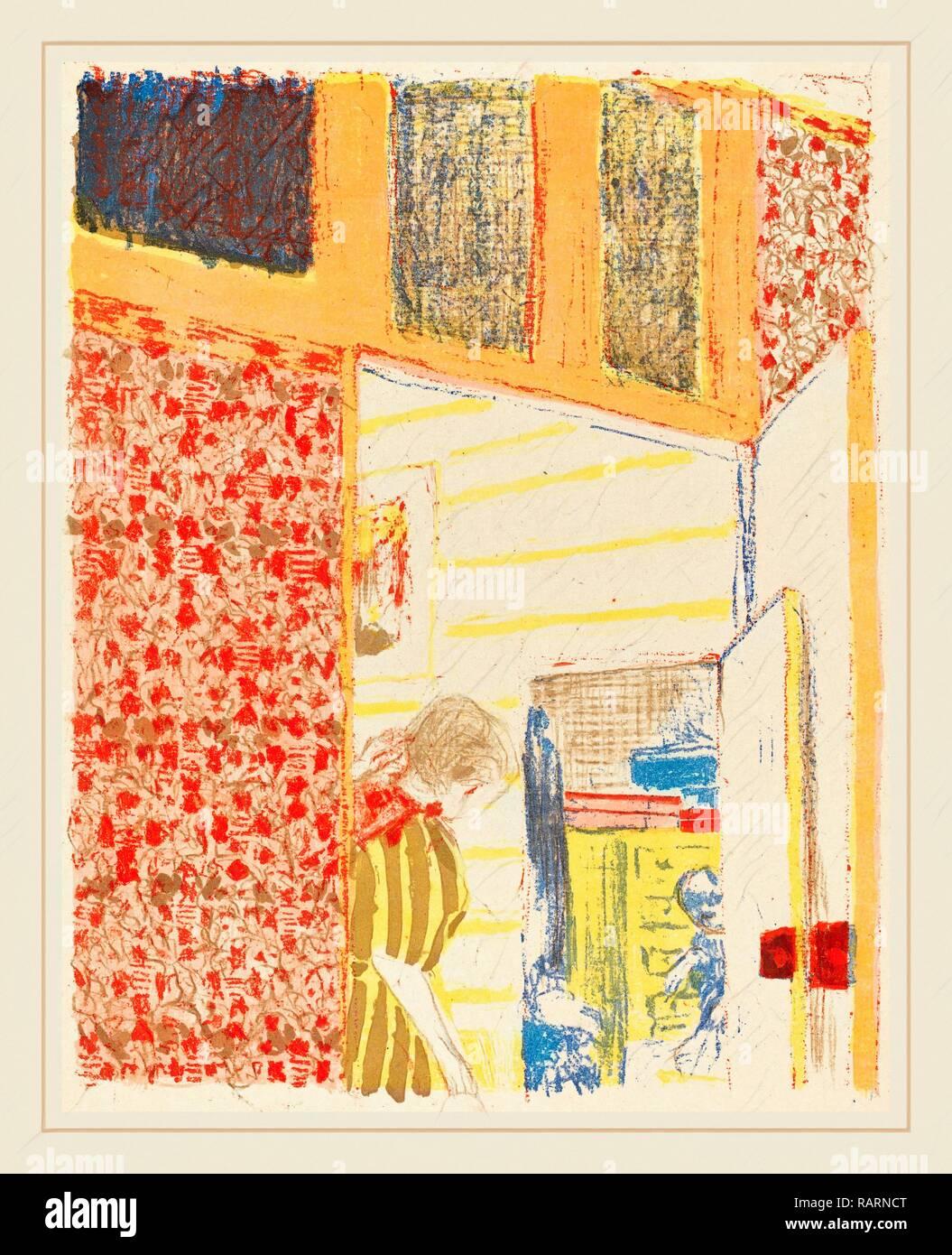 Edouard Vuillard (Französisch, 1867-1939), Innenraum mit rosa Tapete II (Interieur aux tentures Roses II), C. 1896 (Neuerfundene Stockbild