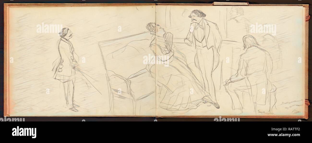Soirée, Edgar Degas, Französisch, 1834 - 1917, ca. 1877. Neuerfundene durch Gibon. Klassische Kunst mit einem modernen Touch neuerfundene Stockbild